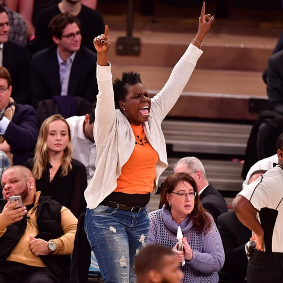 Leslie Jones at Knicks Game January 2017