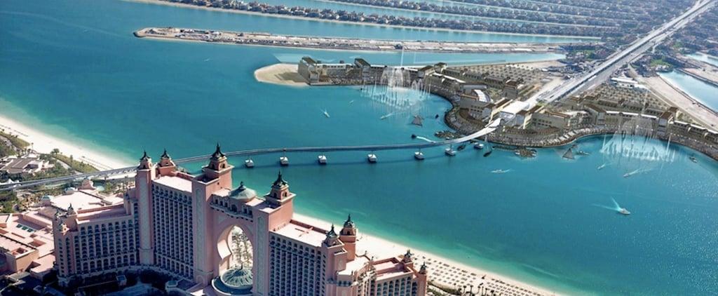 إنشاء نافورة دبي الراقصة الجديدة ذي بوينت في نخلة جميرا