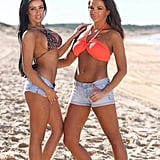"""Sophie and Vernesa call each other """"wifey"""" and resemble the spray-tanned, buxom cast of Jersey Shore the most. In their promo they talk about how they prefer looking fake to natural: """"If you weren't born with it, just buy it."""""""
