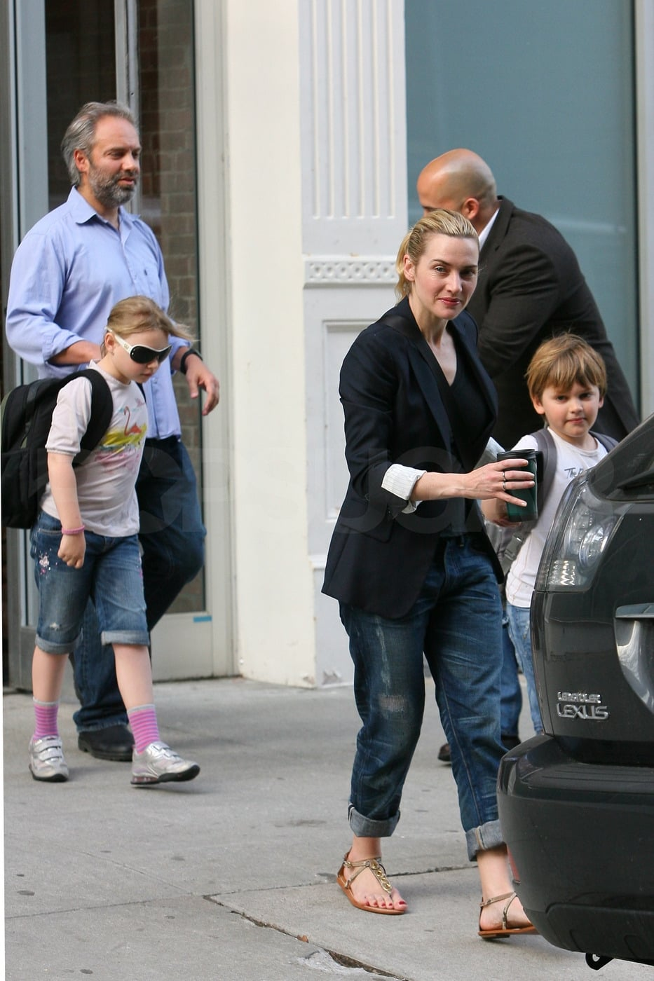 photos of kate winslet and exhusband sam mendes taking