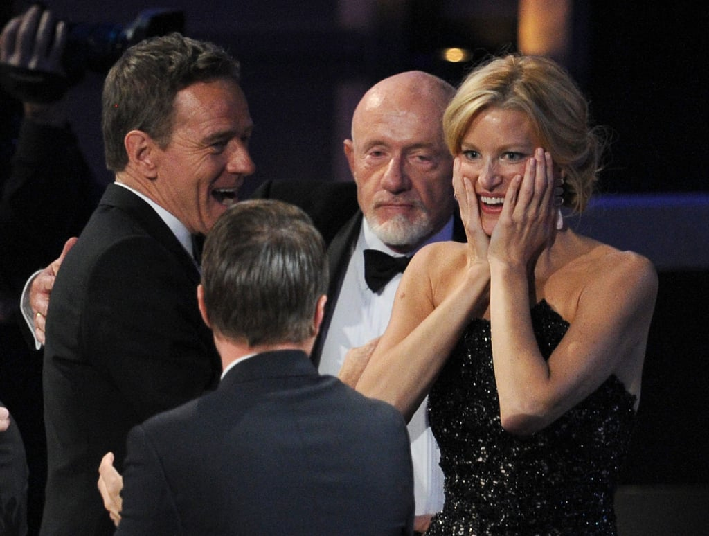 Anna Gunn was overcome with excitement about her big win.