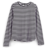 Orchid Black Stripe Long-Sleeved Tee