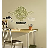 Star Wars Typographic Yoda Peel and Stick Giant Wall Decals