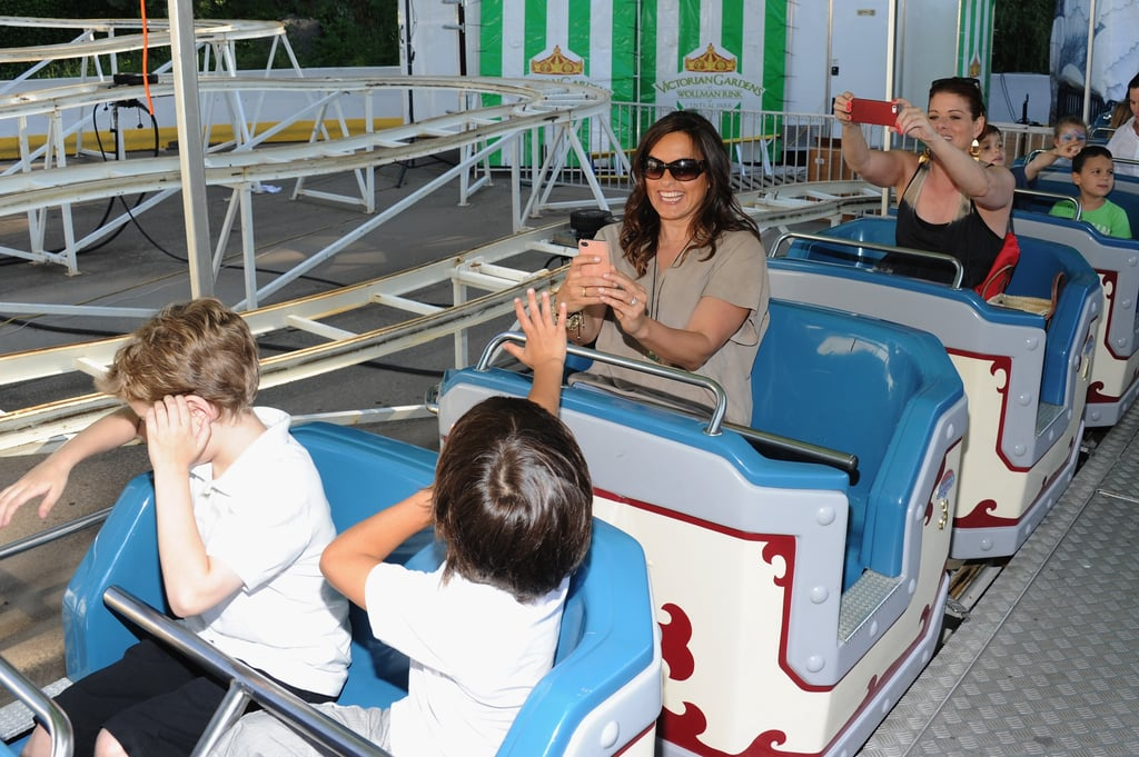 Debra Messing and Mariska Hargitay rode the roller coaster with their kids.