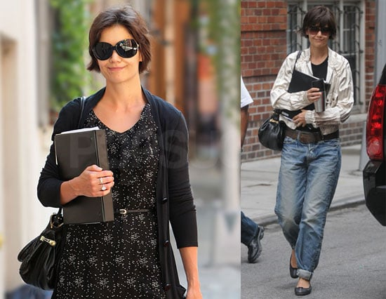 Photos of Katie Holmes Rehearsing for Broadway in NYC