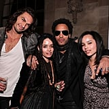 How's this for family goals? Lenny showed up to hang with Lisa, Jason Momoa, and Zoë at a pre-Oscars bash in February 2010.