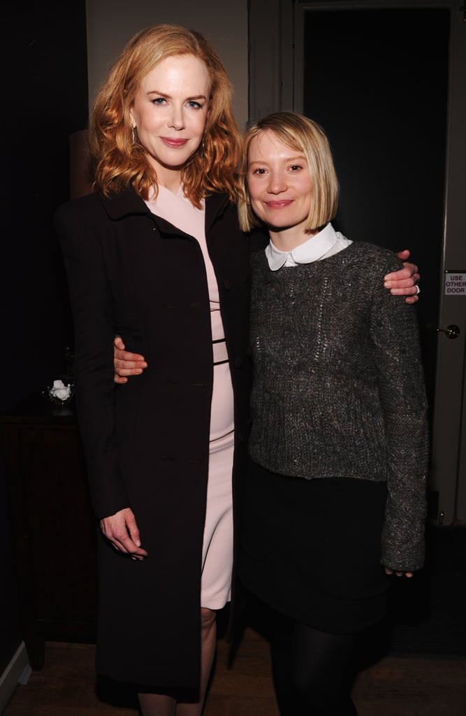 Nicole Kidman and Mia Wasikowska stuck together at a party for Stoker at the Sundance Film Festival on Jan. 21.