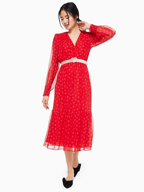 Kate Spade New York  Heartbeat Silk Midi Dress
