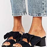 Asos Toulouse Suede Bow Mules (£45)