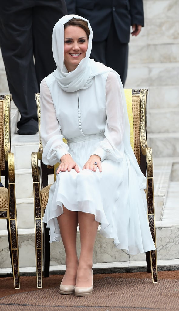 Kate chose a similar shade by Beulah to wear with her head scarf on a trip to Malaysia in 2012.