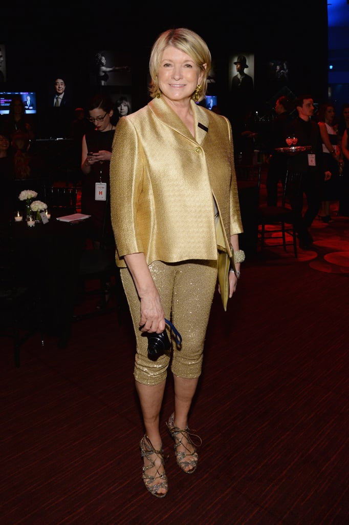Martha Stewart glowed in gold.