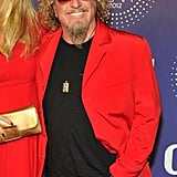 Sammy Hagar stepped out in red.