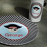 At Etsy shop Libbie & Winston, you can customize your kids' melamine plates ($22) with the motif, color combo, and name or monogram of your choice. We're partial to this smiley pirate!