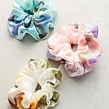 Anthropologie Ruffled Watercolors Pony Holder Set