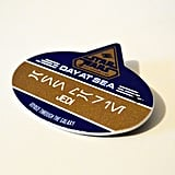 You wake up in the morning and grab your custom-made name tag in Aurebesh.