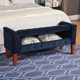 HomePop Velvet Tufted Storage Bench