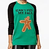 Ultra Flirt Funny Gingerbread Graphic Sweater