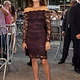 Penelope Cruz wore Emilio Pucci to a screening of To Rome With Love at the Paris Theatre in NYC.