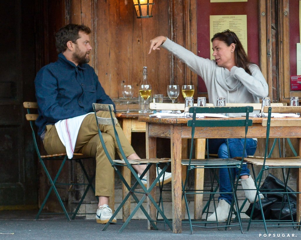 Joshua Jackson and Maura Tierney Drinking Wine in NYC 2017