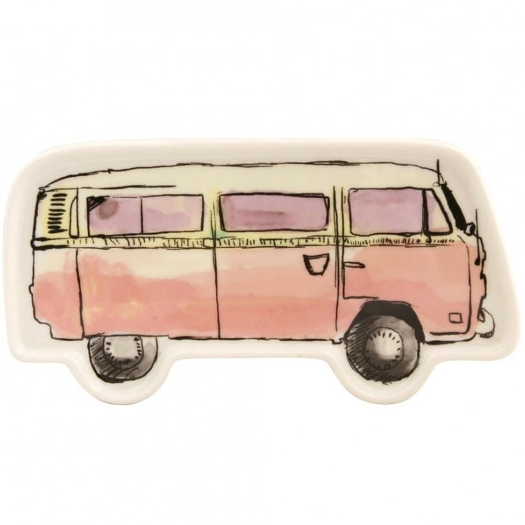 For any girly bohemian who has fantasized about owning a VW bus, this adorable catchall dish ($21) is the next best thing. Carbon dioxide emissions not included.