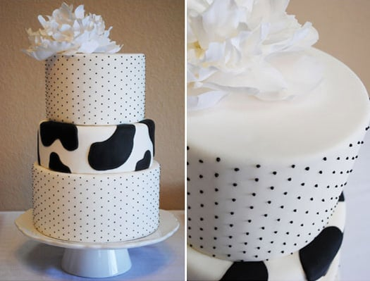 Black And White Baby Shower Cake