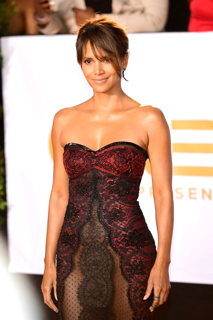 Halle Berry Sheer Reem Acra Dress | POPSUGAR Fashion Australia холли берри инстаграм