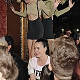 Miley Cyrus danced next to Katy Perry at a party.