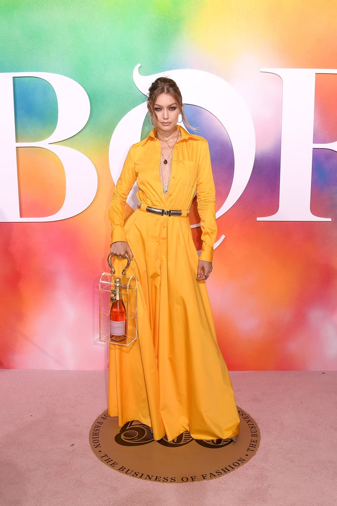 Gigi Posing at the BOF500 Gala
