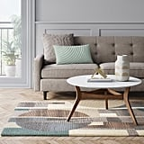 Wool Linear Tufted Geo Area Rug