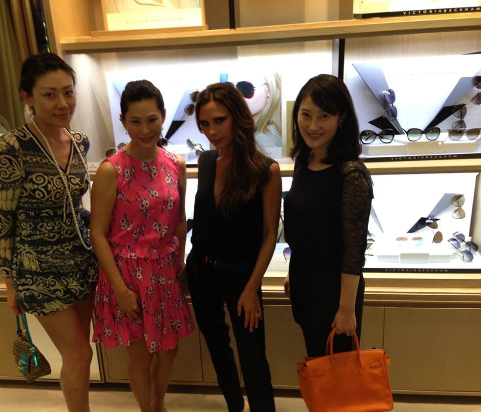 Victoria Beckham shared a photo from the Puyi Optical event in Beijing. Source: Facebook user VictoriaBeckham