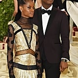 Pictured: Letitia Wright and John Boyega