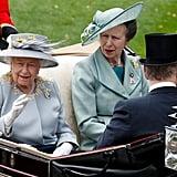 Queen Elizabeth II and Princess Anne