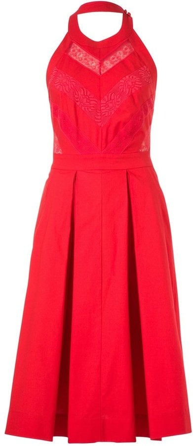 Temperley London Sacha red halter gown with lace inserts (£255, originally £855)