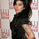 In February 2007, Amy hit the red carpet at the Elle Style Awards in London.