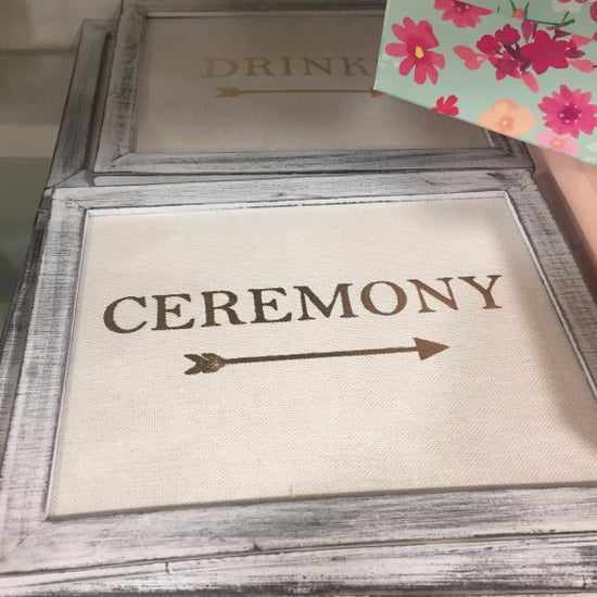 HomeGoods Wedding Decor