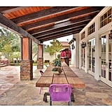 French doors off the living room open up directly onto the patio, giving Kylie easy access to the outdoors.