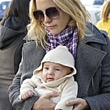 Kate Hudson with baby Bing.