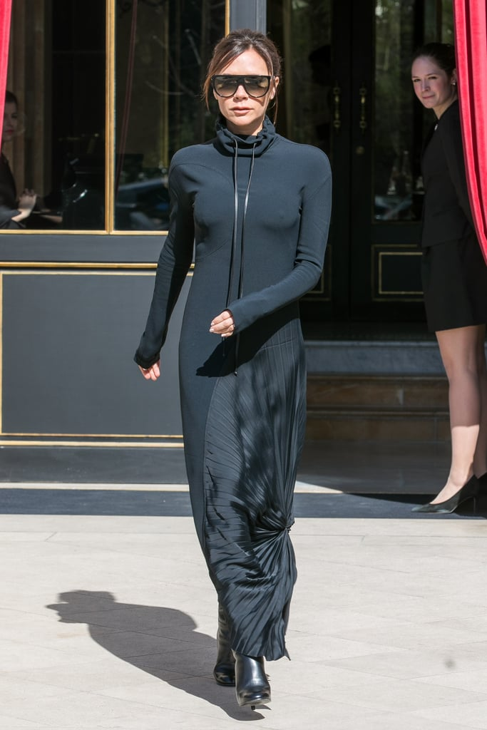 Victoria Beckham Black Hoodie Dress