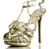 Lace Fused T Strap Sandal, $995