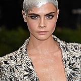 Cara Delevingne's Chrome Head Paint, 2017