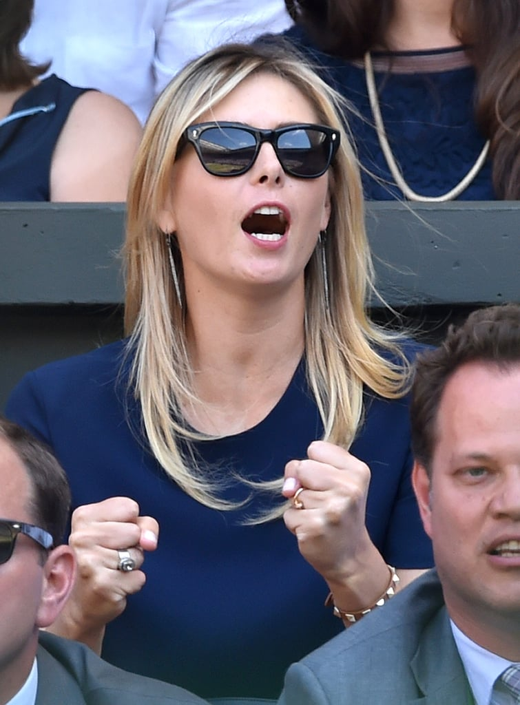 Maria Sharapova brought high energy to the semifinal match.