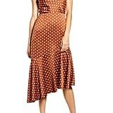 J.O.A. Cowl Neck Midi Dress