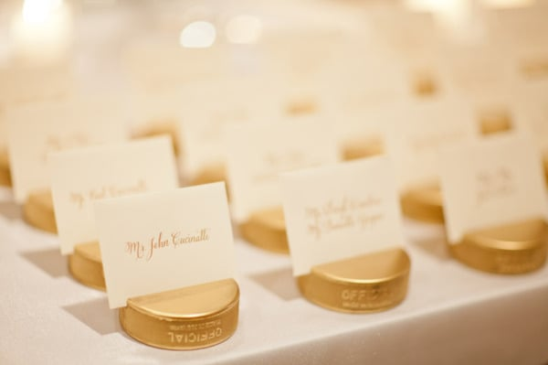 Gold Puck Escort Cards