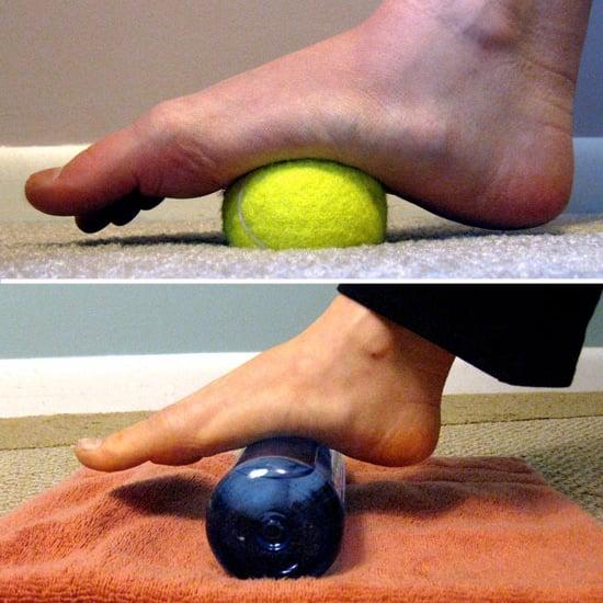 foot bottom pain tennis ball