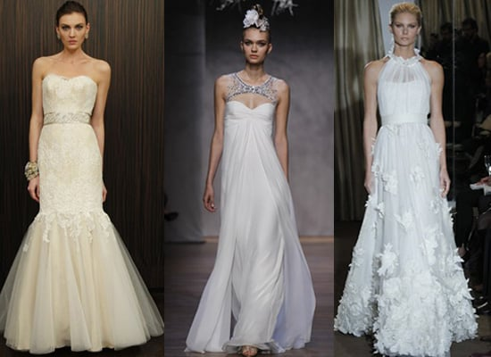 Bridal Trends from Fall 2011 Collections, including Vera Wang, Monique Monique Lhiullier and Oscar de la Renta,