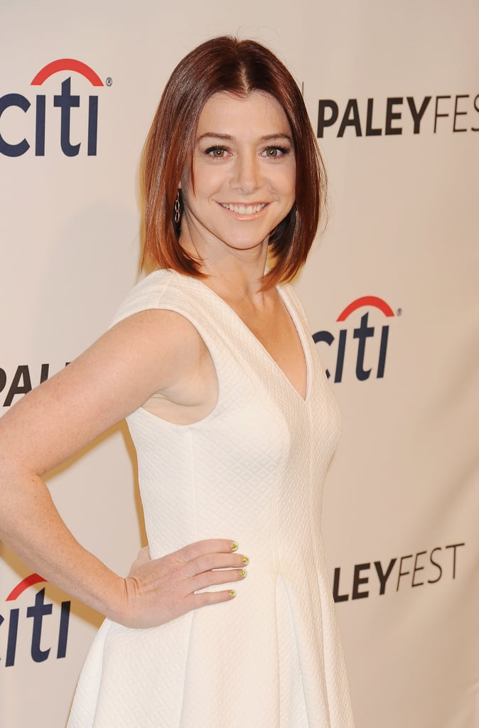 Alyson Hannigan wore a white dress for the festivities.