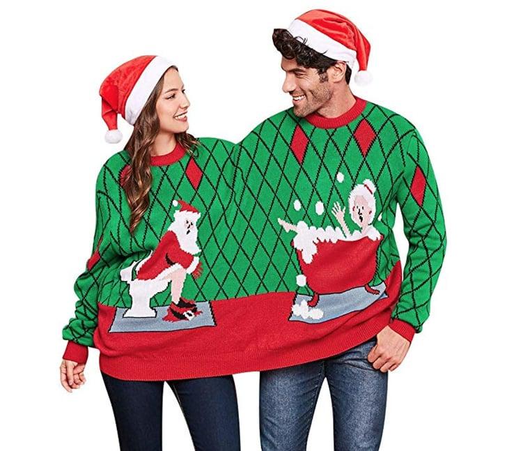 Christmas Sweaters For Couples.Ugly Christmas Sweaters For Couples 2018 Popsugar Love Sex