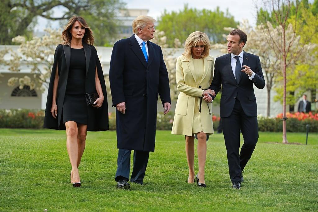 Melania Trump's Black Givenchy Cape