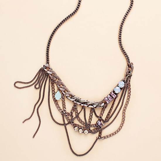 Juicy Couture Anitque Rose Gold Bib Necklace, $128