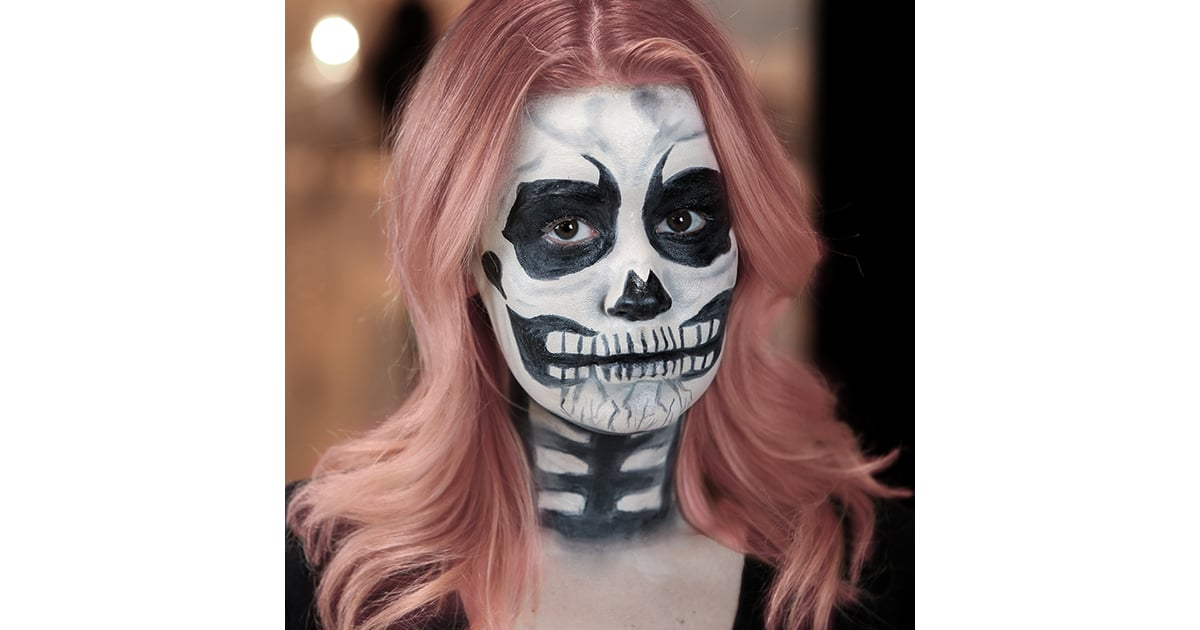 Halloween Make Up Skelet.Skeleton Halloween Makeup Tutorial Popsugar Beauty